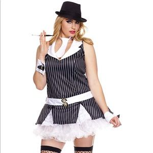Mafia Gangster Girl Halloween Costume 3x/4x Plus